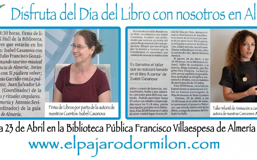 Dia del Libro en Almeria con nuestros Cuentos y Canciones Infantiles